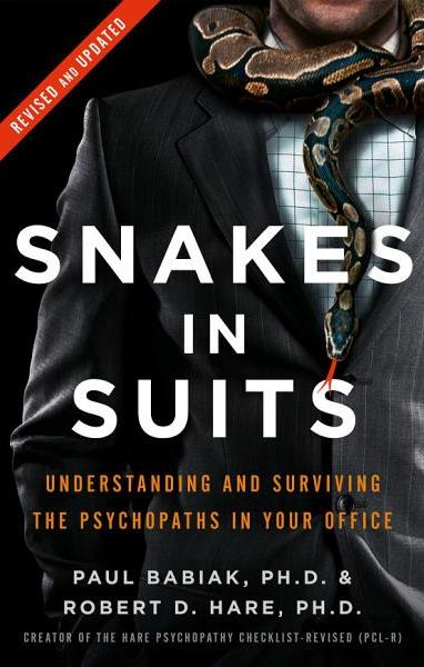 """Book Cover: """"Snakes in Suits"""""""