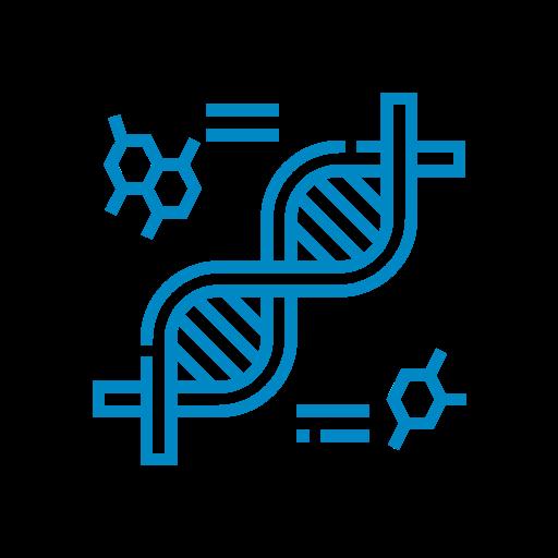 Line art of DNA